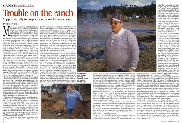 Article Preview: Trouble on the ranch, April 1999 | Maclean's