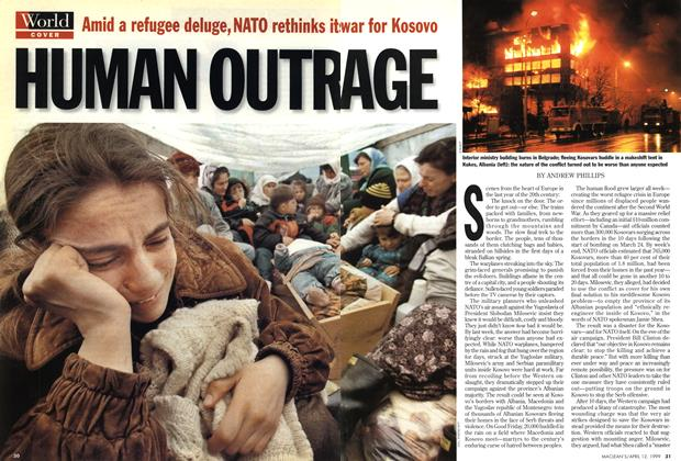 Article Preview: HUMAN OUTRAGE, April 1999 | Maclean's