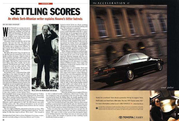 Article Preview: SETTLING SCORES, April 1999 | Maclean's