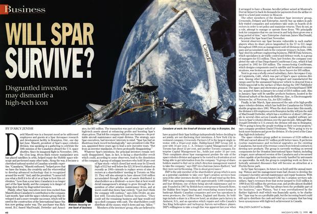 Article Preview: WILL SPAR SURVIVE?, April 1999 | Maclean's