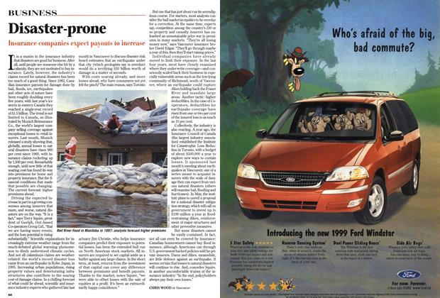 Article Preview: Disaster-prone, April 1999 | Maclean's