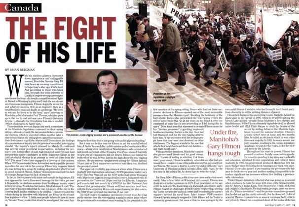Article Preview: THE FIGHT OF HIS LIFE, April 1999 | Maclean's