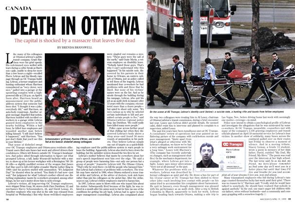 Article Preview: DEATH IN OTTAWA, April 1999   Maclean's