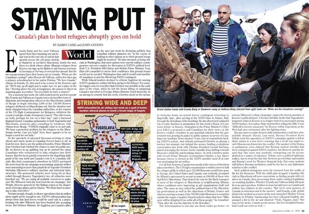 Article Preview: STAYING PUT, April 1999 | Maclean's