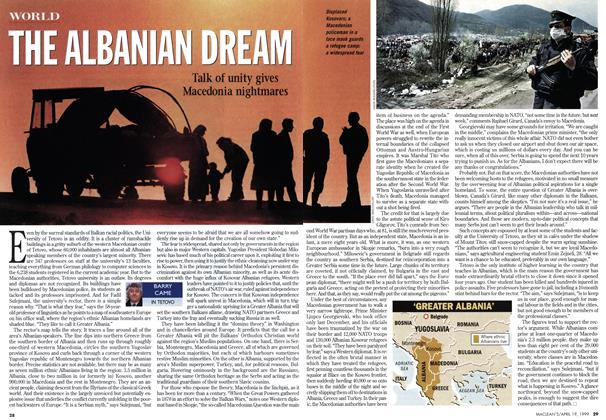 Article Preview: THE ALBANIAN DREAM, April 1999 | Maclean's