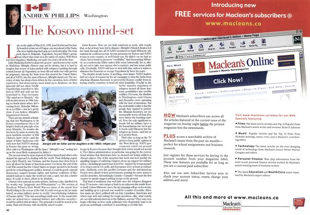 Article Preview: The Kosovo mind-set, April 1999 | Maclean's