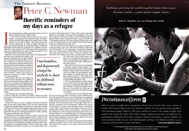 Article Preview: Horrific reminders of my days as a refugee, April 1999 | Maclean's