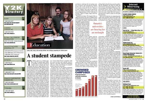 Article Preview: A student stampede, April 1999 | Maclean's