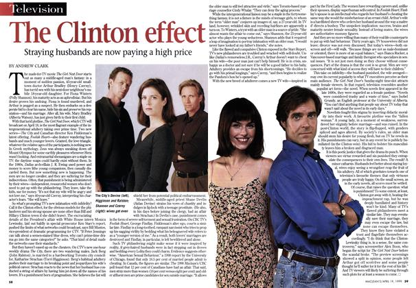Article Preview: The Clinton effect, April 1999 | Maclean's