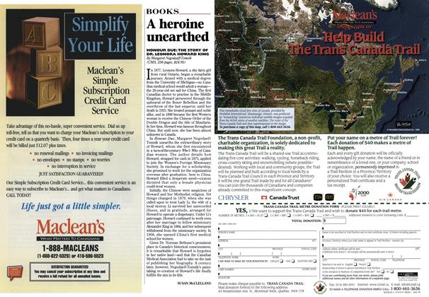 Article Preview: A heroine unearthed, April 1999 | Maclean's