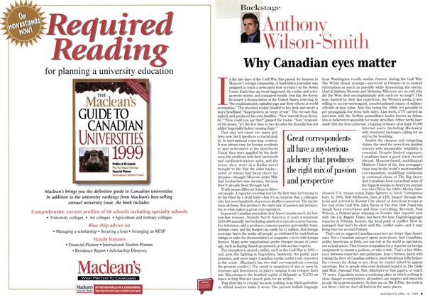 Article Preview: Why Canadian eyes matter, April 1999 | Maclean's