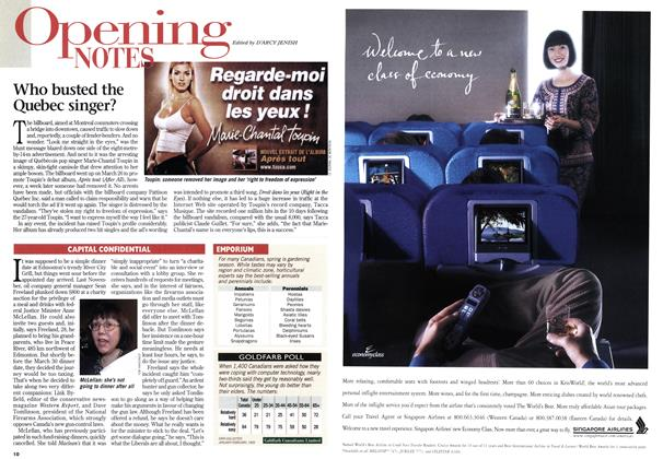 Article Preview: Opening NOTES, April 1999 | Maclean's