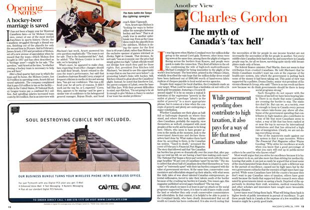 Article Preview: The myth of Canada's 'tax hell', April 1999 | Maclean's