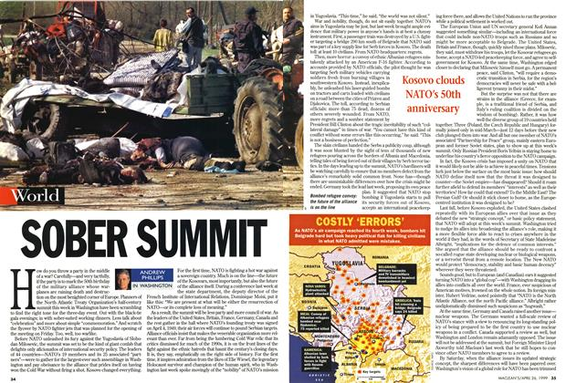 Article Preview: SOBER SUMMIT, April 1999 | Maclean's
