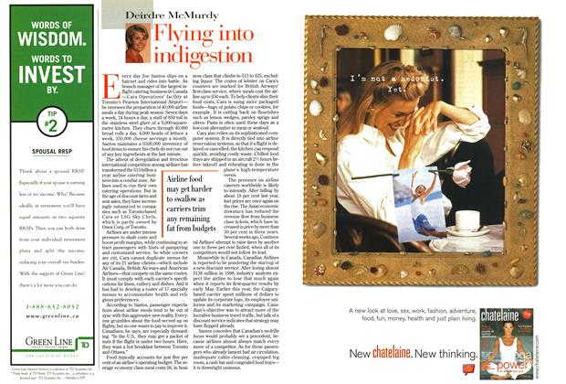 Article Preview: Flying into indigestion, April 1999 | Maclean's