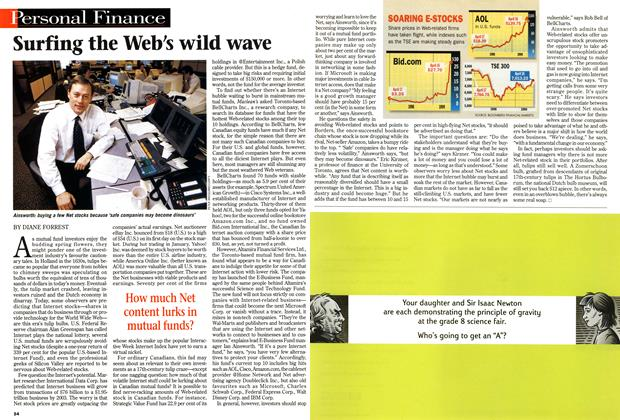 Article Preview: Surfing the Web's wild wave, April 1999 | Maclean's