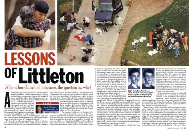Article Preview: LESSONS OF Littleton, May 1999 | Maclean's