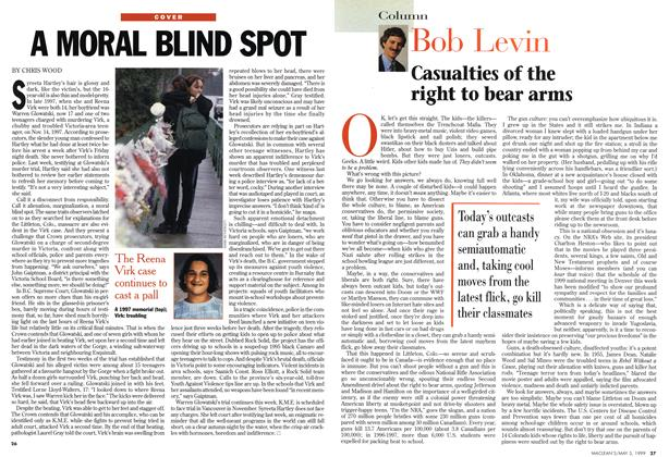 Article Preview: Casualties of the right to bear arms, May 1999 | Maclean's