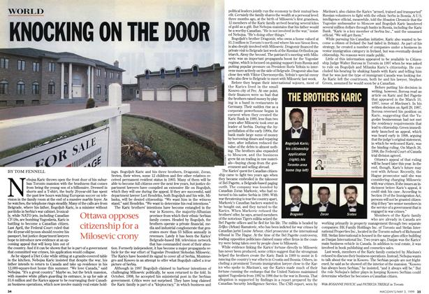 Article Preview: KNOCKING ON THE DOOR, May 1999 | Maclean's
