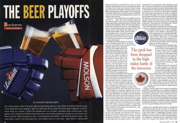 Article Preview: THE BEER PLAYOFFS, May 1999 | Maclean's