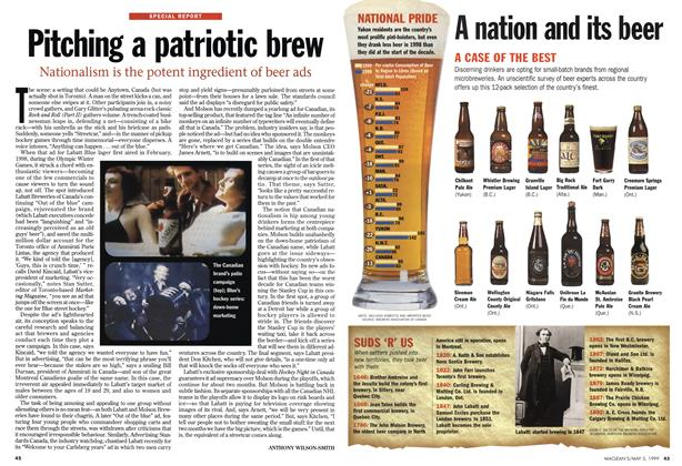 Article Preview: Pitching a patriotic brew, May 1999 | Maclean's