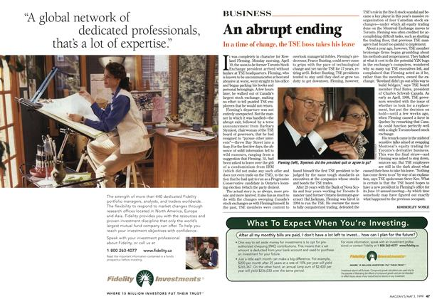 Article Preview: An abrupt ending, May 1999 | Maclean's
