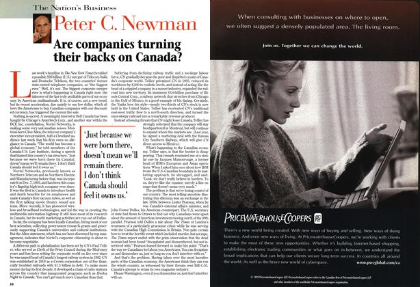 Article Preview: Are companies turning their backs on Canada?, May 1999 | Maclean's