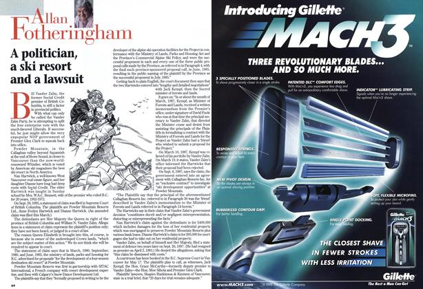 Article Preview: A politician, a ski resort and a lawsuit, May 1999 | Maclean's