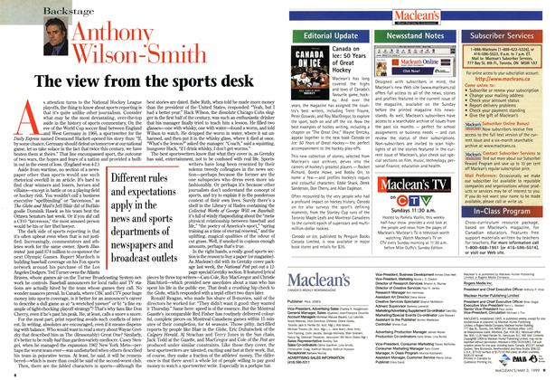 Article Preview: The view from the sports desk, May 1999 | Maclean's