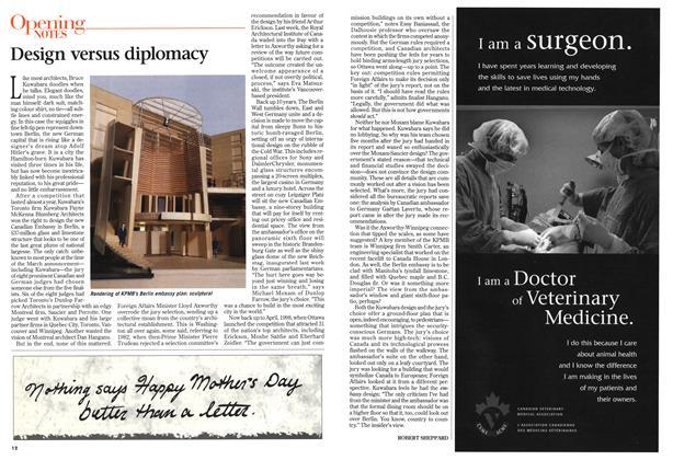 Article Preview: Design versus diplomacy, May 1999 | Maclean's