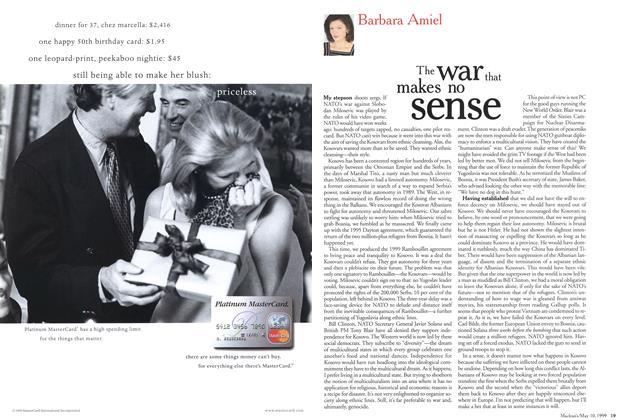 Article Preview: The war that makes no sense, May 1999 | Maclean's