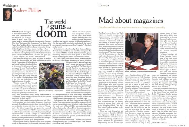 Article Preview: The world of guns and doom, May 1999 | Maclean's