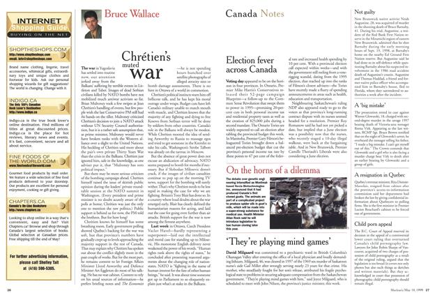 Article Preview: Chrétien's muted war, May 1999 | Maclean's