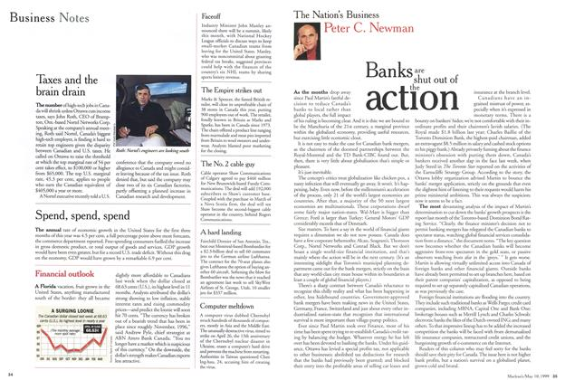 Article Preview: Banks are shut out of the action, May 1999 | Maclean's