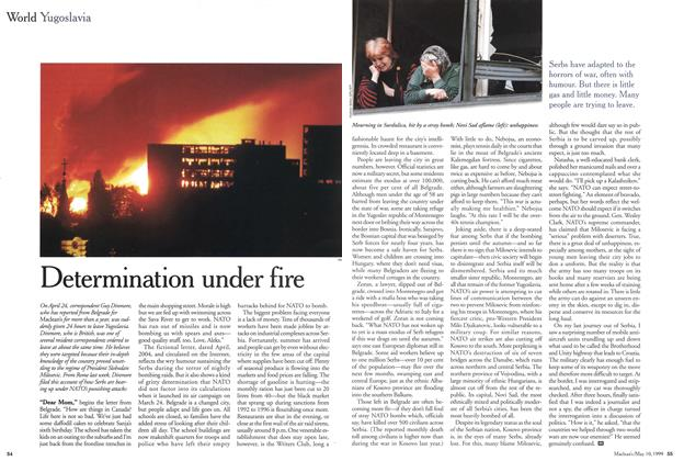 Article Preview: Determination under fire, May 1999 | Maclean's