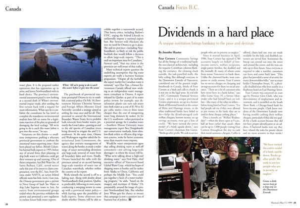 Article Preview: Dividends in a hard place, May 1999 | Maclean's