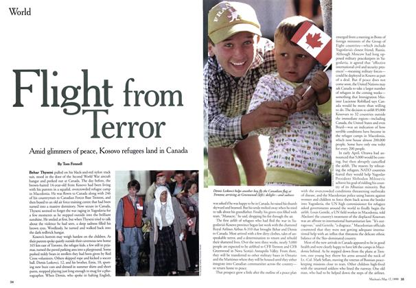 Article Preview: Flight from Terror, May 1999 | Maclean's