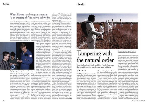 Article Preview: Tampering with the natural order, May 1999 | Maclean's