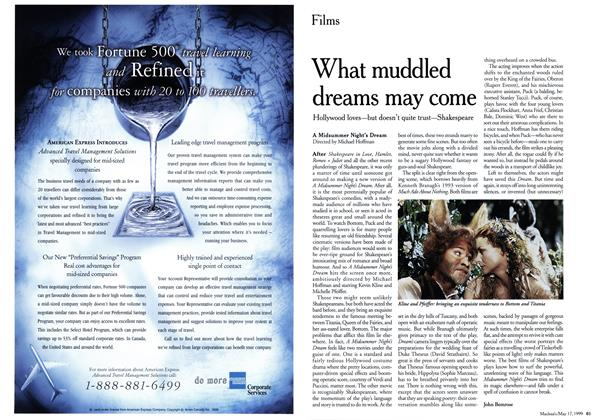 Article Preview: What muddled dreams may come, May 1999 | Maclean's