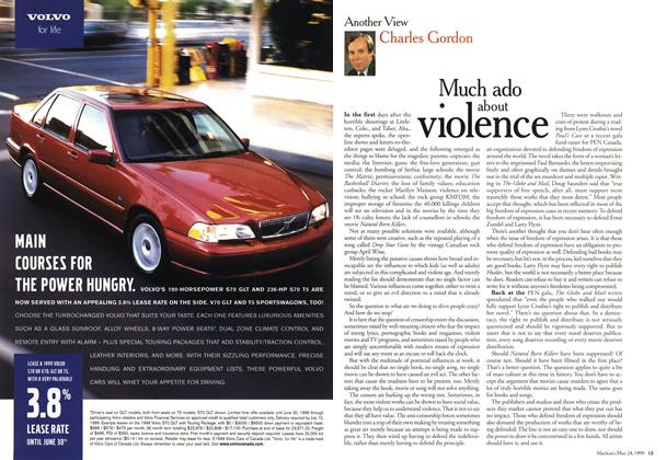 Article Preview: Much ado about violence, May 1999 | Maclean's
