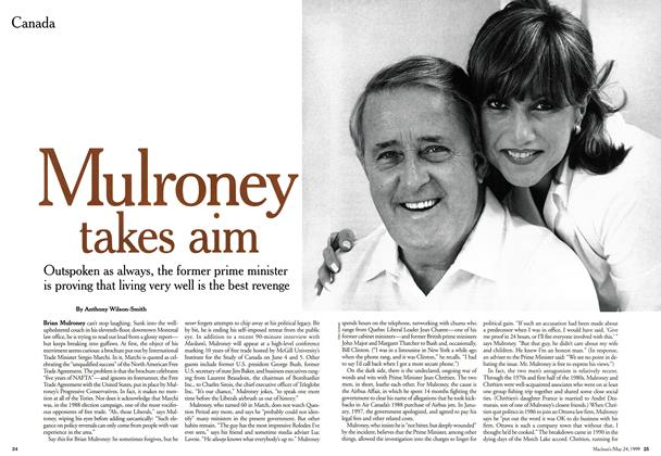 Article Preview: Mulroney takes aim, May 1999 | Maclean's