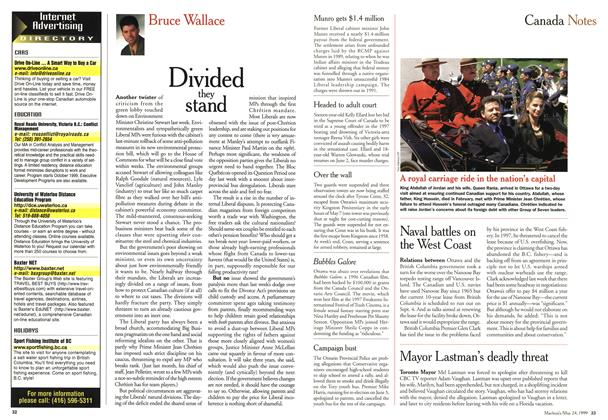 Article Preview: Divided they stand, May 1999 | Maclean's