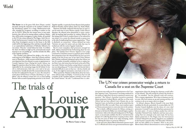 Article Preview: The trails of Louise Arbour, May 1999 | Maclean's
