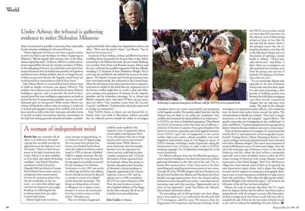 Article Preview: A woman of independent mind, May 1999 | Maclean's