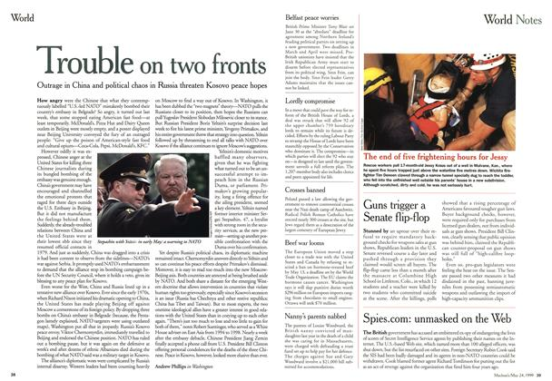 Article Preview: Trouble on two fronts, May 1999 | Maclean's