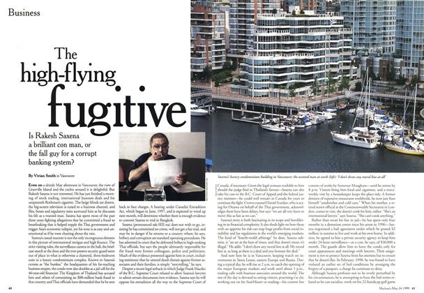 Article Preview: The high-flying fugitive, May 1999 | Maclean's