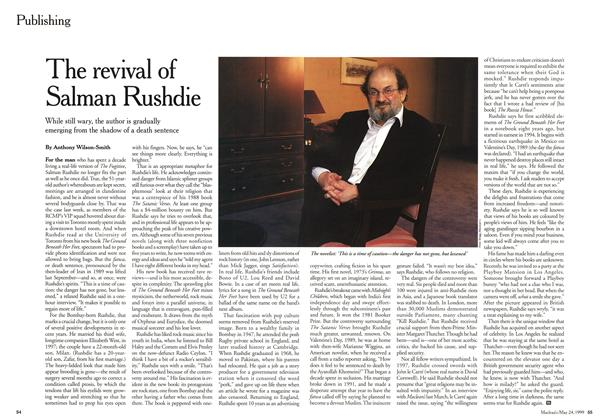 Article Preview: The revival of Salman Rushdie, May 1999 | Maclean's