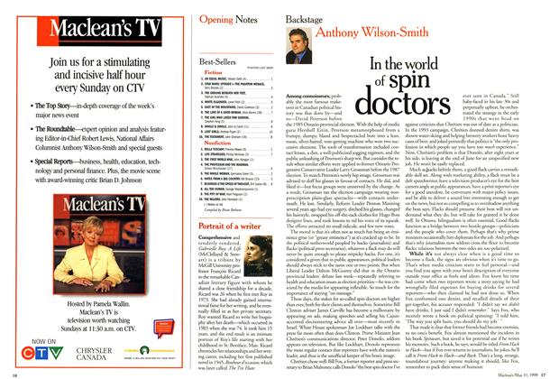 Article Preview: In the world of spin doctors, May 1999 | Maclean's