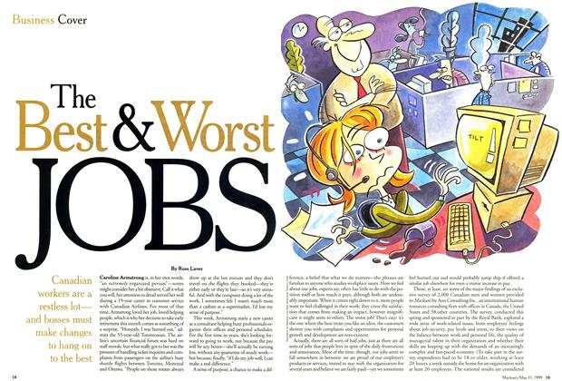 Article Preview: The Best & Worst JOBS, May 1999 | Maclean's