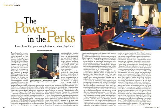 Article Preview: The Power in the Perks, May 1999 | Maclean's